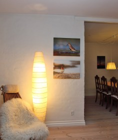 Example showing canvas photo prints in size 40x60cm on walls.